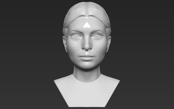 ivanka trump bust ready 3D model