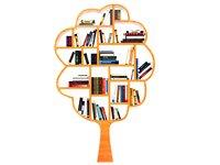 3D model bookshelf