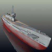 i-400 submarine 3D model