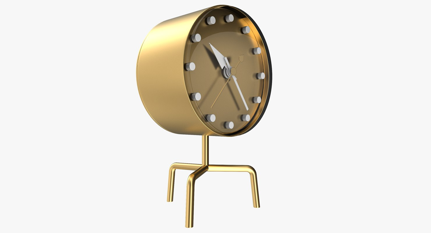 office gold clock model