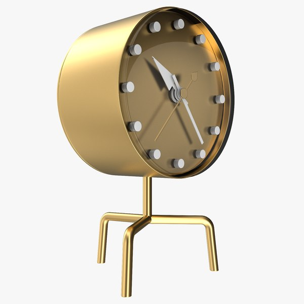 office gold clock model