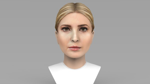 3D model ivanka trump bust ready