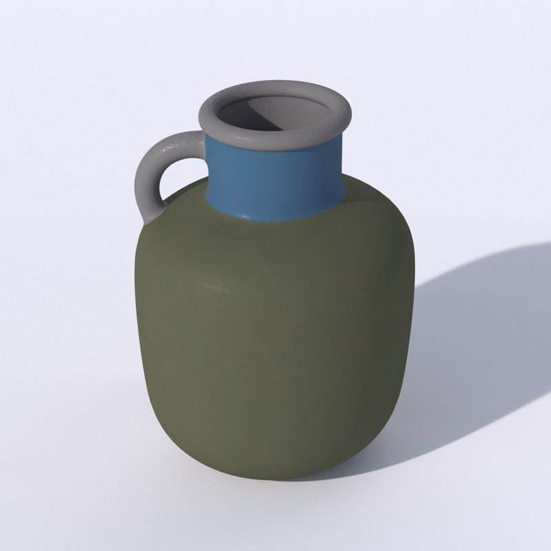 ikea ypperling green vase 3D model