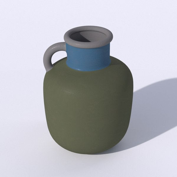 ikea ypperling green vase 3D model