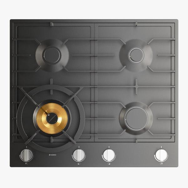 3D gas cooktop