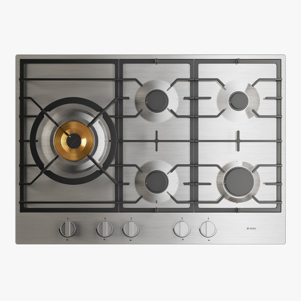 gas cooktop 3D model