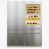 3D refrigerator wine