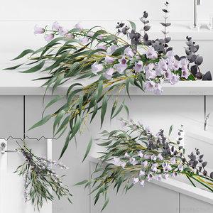 3D realistic sink tap flowers