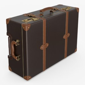 3D modern leather suitcase model