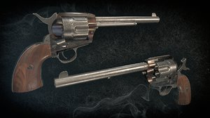3D colt gun pistol model