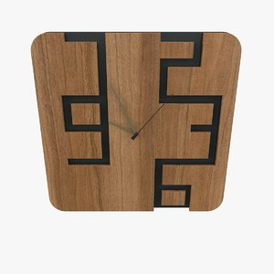 design wall clock 3D