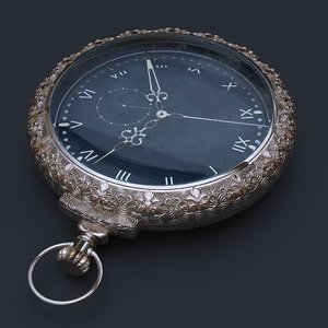 pocket watch 3D model