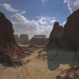 3D model arid wasteland