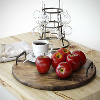 apple food fruit 3D