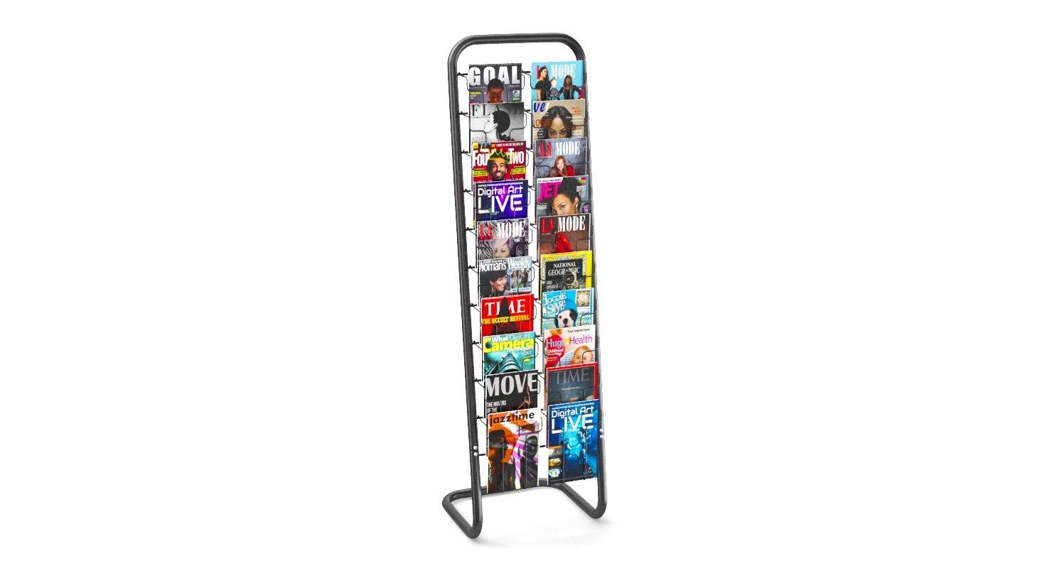 3D magazine stand model
