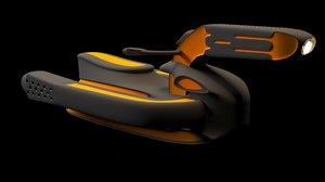3D model spaceship ship