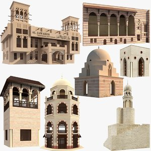 islamic arabic buildings model