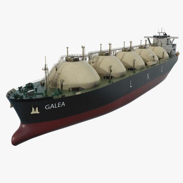hd lng gas tanker model