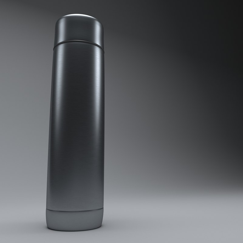 3D thermos flask model
