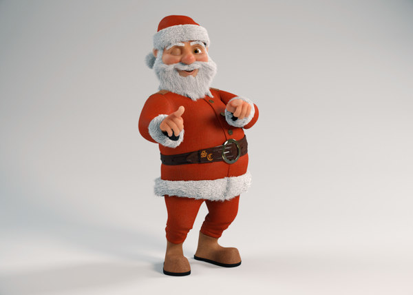 3D santa cartoon