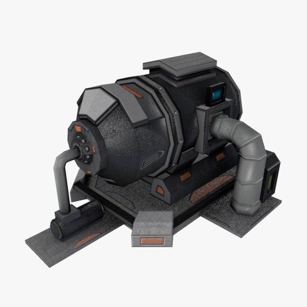 sci-fi storage tank 3D