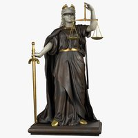 3D lady justice model