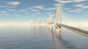 3D rion-antirion bridge