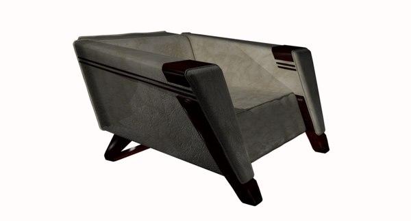 3D club chair model