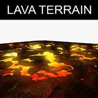 3D model lava terrain