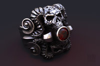 jewellery mystical ring skull model