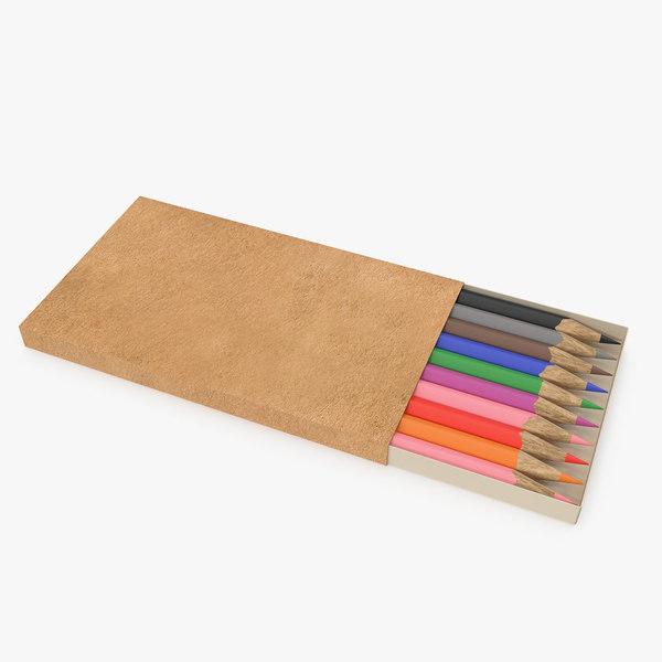 pensil box 3D model