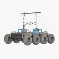 3D rover planet model