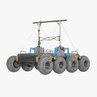 3D rover planet model