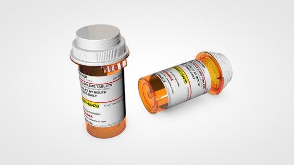 prescription bottle model
