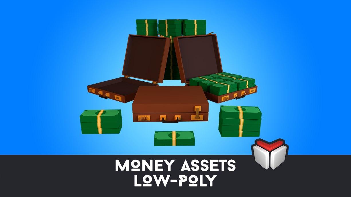money assets 3D model