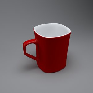 3D nescafe mug model