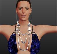 3D model rigged angelina joli