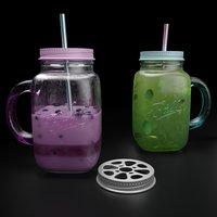 Mason jar with tea and yogurt