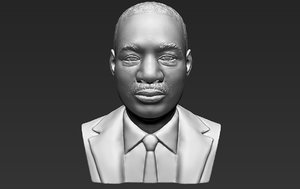 martin luther king bust 3D model