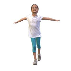 girl flying 3D