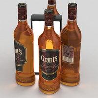 Alcohol Bottle Grants Red Blended Scotch Whisky 700ml