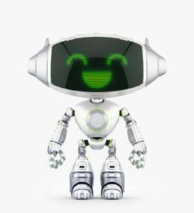 3D cute robotic friendly model