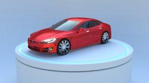 3D model tesla s car
