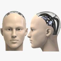 3D humanoid head model
