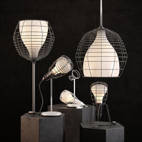 3D light cage model