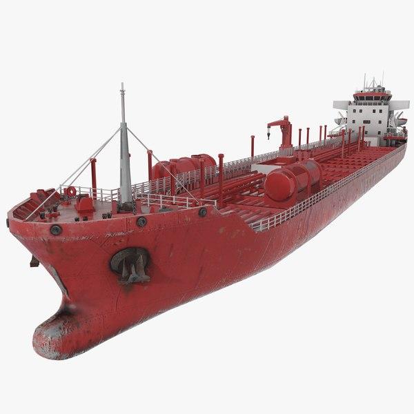 3D chemical tanker ship