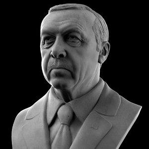 3D president recep tayyip erdogan model