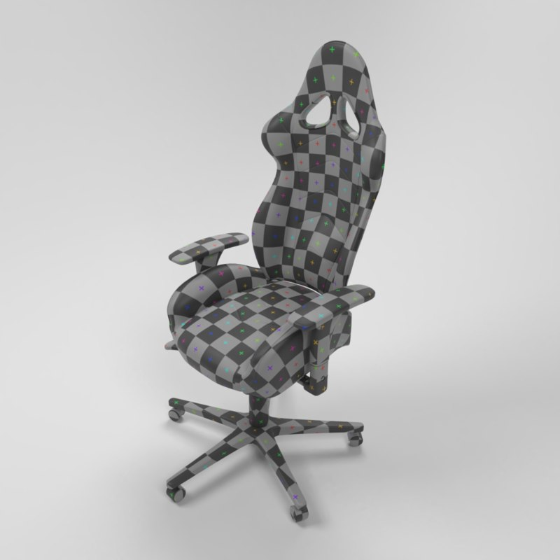 gaming chair seat modeled model