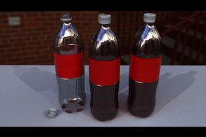 3D model plastic soda cola