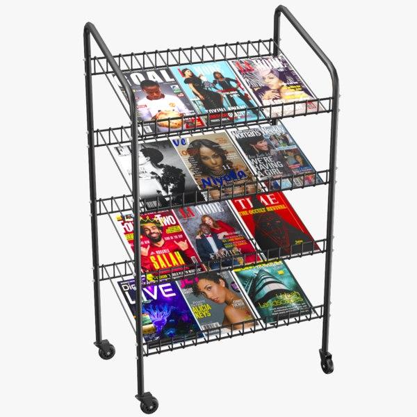 3D model magazine stand modeled